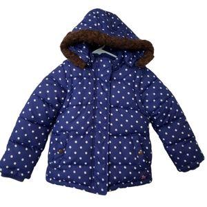 Mini Boden Polka Dot Puffer Jacket Coat 5-6Years